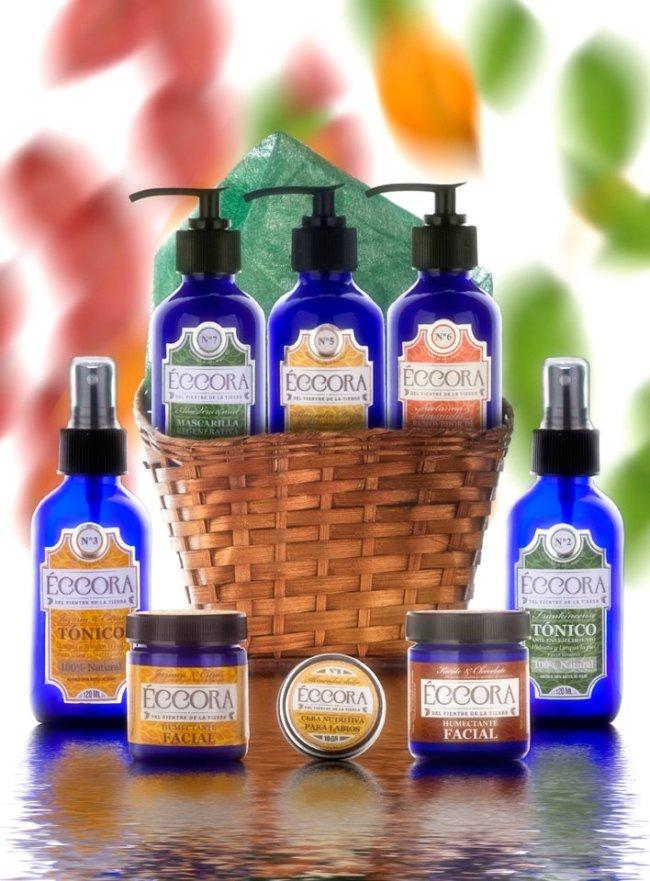 Parte de la gama de productos naturales para el cuidado personal de Eccora Artesanal