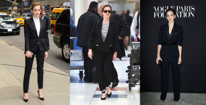 emma watson black suit
