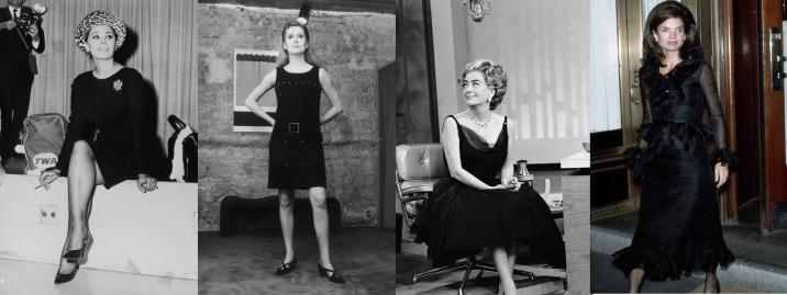 El LBD en los años 60's - Sofia Loren - Catherine Deneuve - Joan Crawford - Jaqueline Kennedy
