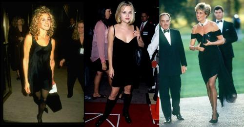 El LBD en los 90's - Sarah Jessica Parker - Reese Witherspoon - Princesa Diana of Wales
