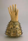Guantes de un caballero inglés entre 1625 - 1650