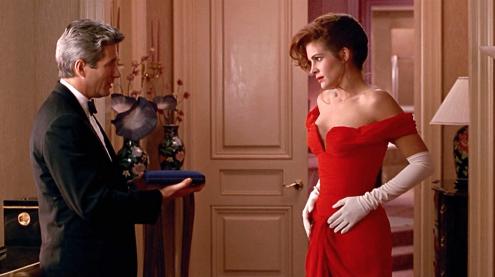 El inolvidable vestido rojo con guantes blancos de Pretty Woman