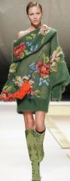 Vestido en tejido de punto con flores de Kenzo