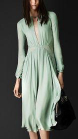 Vestido de seda de Burburry