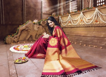Saree en seda - traje típico de la India