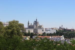 Vista hacia el Palacio Real