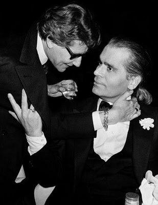 Karl Lagerfeld e Yves Saint Laurent