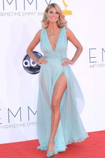heidi-klum-light-blue-chiffon-sexy-plunging-prom-dress-emmy-awards-red-carpet