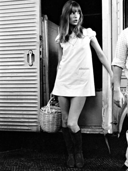 Jane Birkin con su bolso canasto